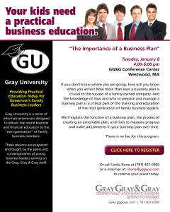 Gray University - The Importance of a Business Plan