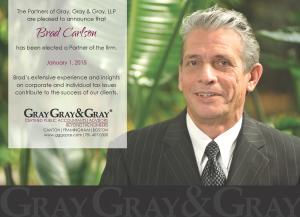 Brad Carlson Partner Announcement